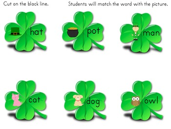 St. Patrick's Day/March Cvc Words!