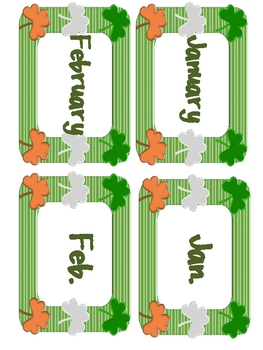 St. Patrick's Day/March Literacy Stations/Centers