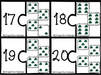 St Patricks Dice Matching Puzzles