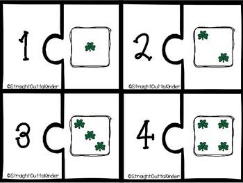 St Patricks Dice Matching Puzzles