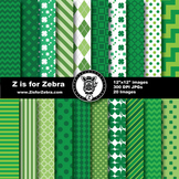 St Patrick's Digital Paper Pack - Commercial Use OK! ZisforZebra