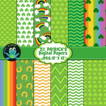 St Patricks Digital Papers - UZ878