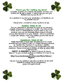 St. Patrick's Free Writing Display