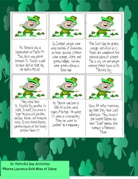 St Patrick's Fun for all grades - printables for math, reading, writing, art