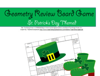 St. Patrick's Geometry Review Board Game