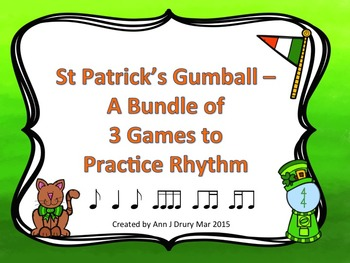 St Patrick's Gumball - A Bundle of 3 Games to Practice Rhy