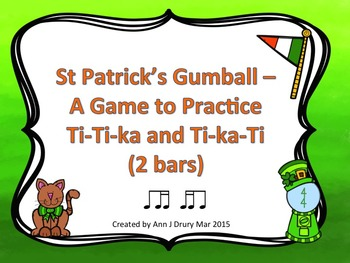 St Patrick's Gumball - A Game for Practicing Ti-Ti-ka and