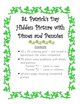 St. Patrick's Hidden Picture Money Math Activity
