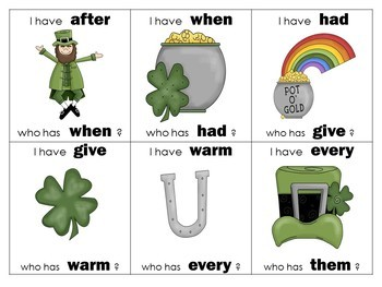 """St. Patrick's """"I Have"""" Game Packet (5 levels)"""