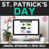 Speech Therapy St. Patrick's Bundle: Language, Articulatio