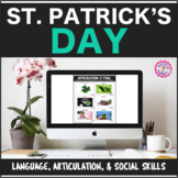 Speech Therapy St. Patrick's Bundle: Language, Articulation, & Social Pragmatics