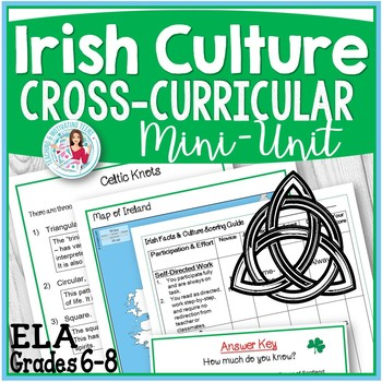 St. Patrick's Day Ireland Facts & Culture Literacy Cross-C
