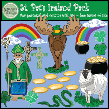 St. Patrick's Ireland Clip Art Pack {Messare Clips and Design}