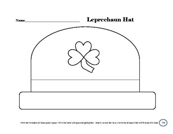 St Patricks Leprechaun Hat Craft