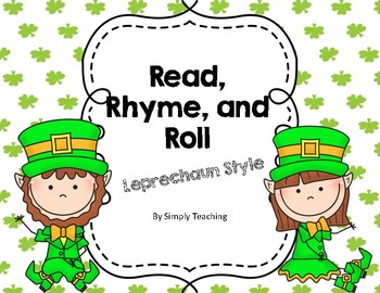St Patricks Leprechaun Read Write Roll and Rhyme Sight Words