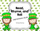 St Patricks Leprechaun Read Write Roll and Rhyme Sight Words