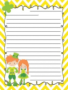St. Patrick's Letter Writing Templates
