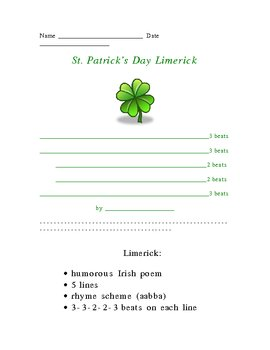 St. Patrick's Limerick Poetry Form