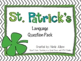 St. Patrick's Literal, Inferential and Evaluative Question Pack