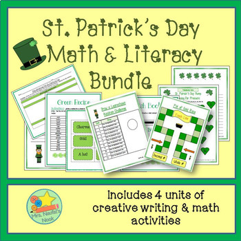 St. Patrick's Day Activities Math and Literacy Bundle