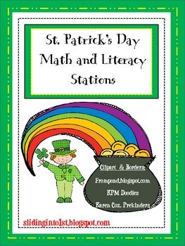 St. Patrick's Math & Literacy Stations