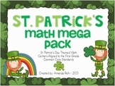 St. Patrick's Math Mega Pack (St. Patrick's Themed Math Centers for First Grade)