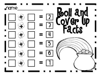 "St Patrick's Math Station ""Roll And Cover Up!"""