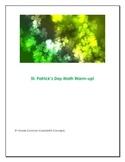 St. Patrick's Math Warm Up (3rd, 4th)