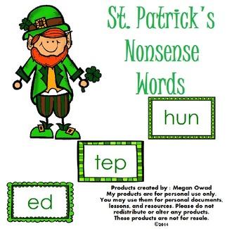 St. Patrick's Nonsense Words