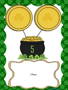 St. Patrick's Number Bond Mats for Decomposing 5 and 10 -student worksheets