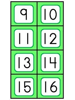 St. Patrick's Number Count and Match