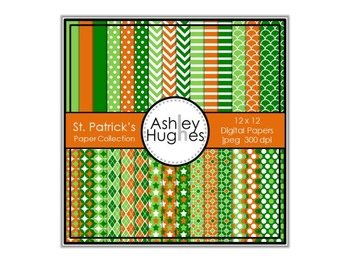 St. Patrick's Paper Collection {12x12 Digital Papers for C
