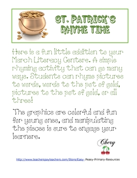 St. Patrick's Rhyme Time