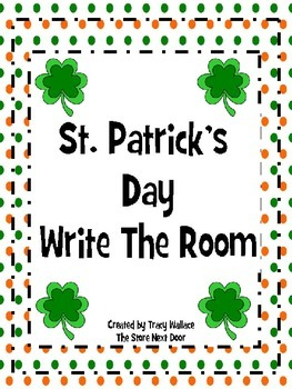 St. Patrick's Sight Word Write and Graph Room.  (Wonders R