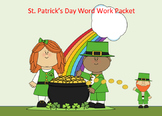 St. Patrick's Day Word Work Packet–10 words, no prep spelling packet, 50+ pages