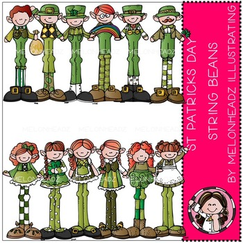 St Patricks Day clip art - String Beans - by Melonheadz