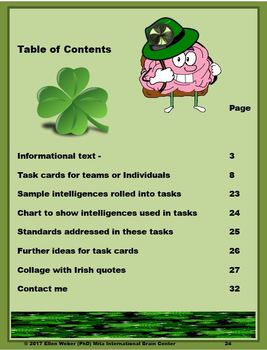 St Patrick's Task Cards for Non-Fiction – CCSS Aligned!