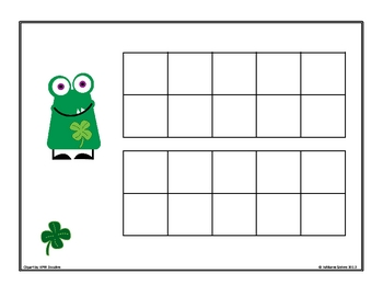 St. Patrick's Ten Frames Building Teen Numbers