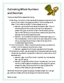 St. Patrick's Themed Math Estimation with Whole Numbers an