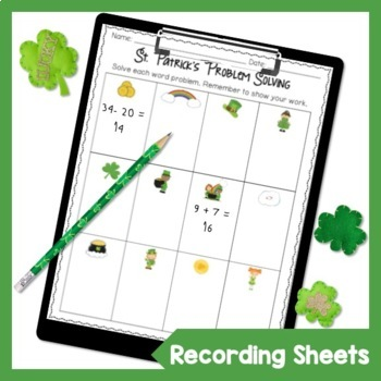 First Grade St. Patrick's Day Word Problems