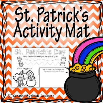 St. Patrick's activity mat
