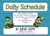 St. Patrick's day Daily Schedule