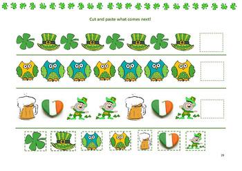 St. Patrick's day Kindergarten pack activities