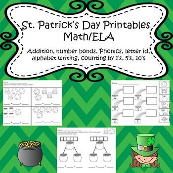 St. Patricks day Printables Kindergarten