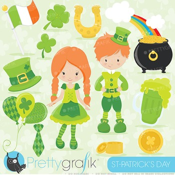 St-Patrick's day clipart commercial use, vector graphics, digital - CL639