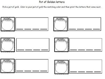 St. Patrick's day literacy and math activities and lessons COMBO pack