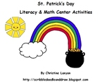 St. Patrick's day literacy and math center activities