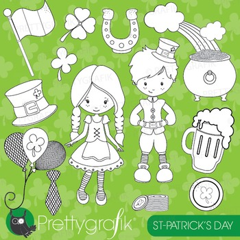St-Patrick's day stamps commercial use, vector graphics, i