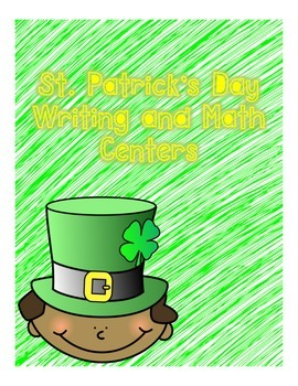 St Patricks day writing art and math centers