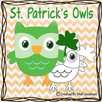 St. Patrick's owl clipart